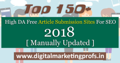 Top 150+ High DA Free Article Submission Sites For SEO 2018 [ Manually Updated]