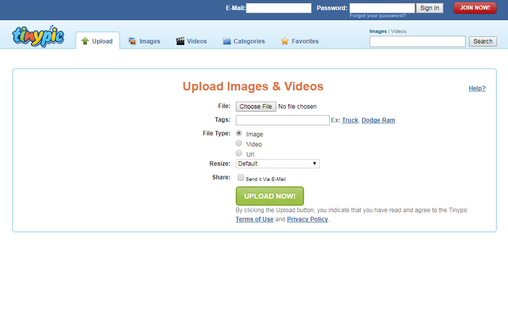 top best free image sharing sites list tinypic