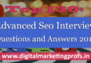 Top 130+ Advanced Seo Interview Questions and Answers 2018