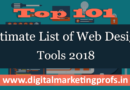 Top 101 Ultimate List of Web Design Tools 2018