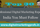 Top 30 Professional Digital Marketing Experts India You Must Follow