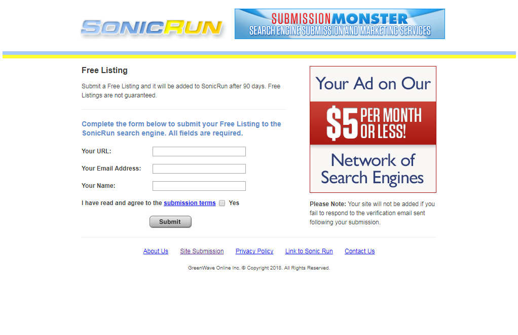 top best free search engine submission sites list sonicrun
