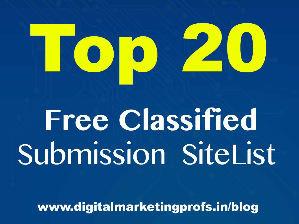 Top 20+ free  High PA/DA Classified Submission Sites list 2019  [ Manually Updated ]
